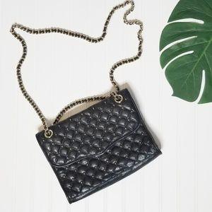 Rebecca Minkoff Quilted Black Studded Affair Bag